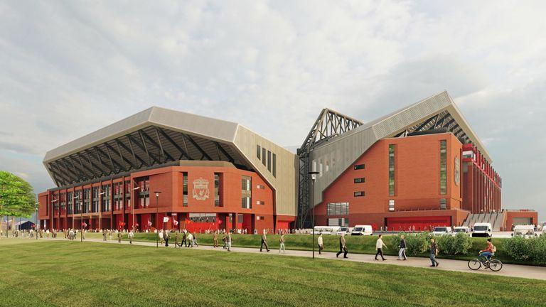 Bu sezon yoluna kayıpsız devam eden ve futbol tarihine altın harflerle yazılacak tarihi bir sezon geçiren Liverpool, Anfield'ın büyümesinde hedeflediği planları açıkladı.